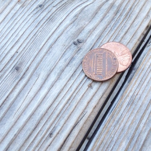 Leave a penny, take a penny. Heads, tails. #decisions #chooseoneg #lovewood