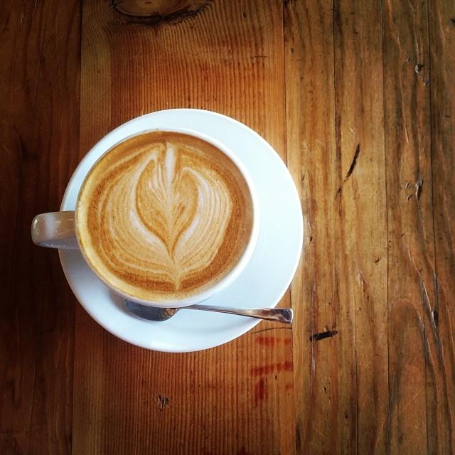 Pick me up, now. #lovewood  (at Javista Organic Coffee Bar)