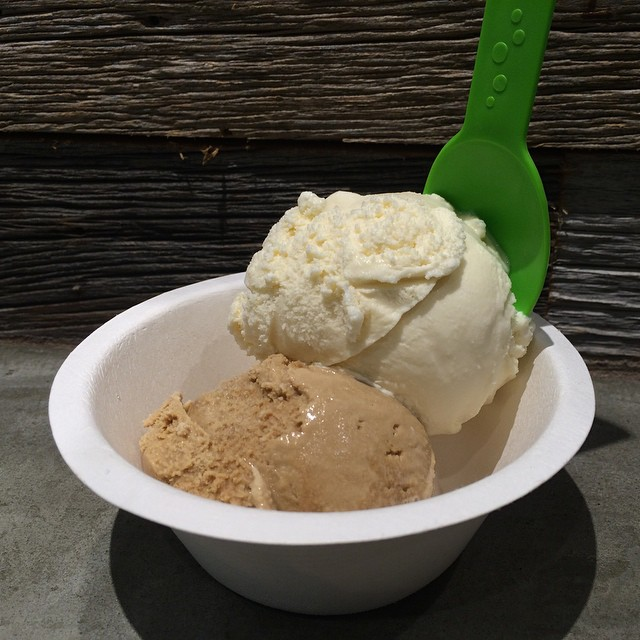 Simple sundae on Sunday. #madagascarvanilla #coffee #threetwins #threetwinsicecream (at Three Twins Ice Cream - Santa Monica)