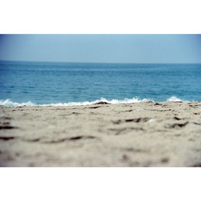 Not enough beach time this summer but I made it count even when it was just me. #serenity  #onmybelly #beachbummin #malibu #summer14 #minolta #kodak #35mm #film #nofilter #richardphotolab