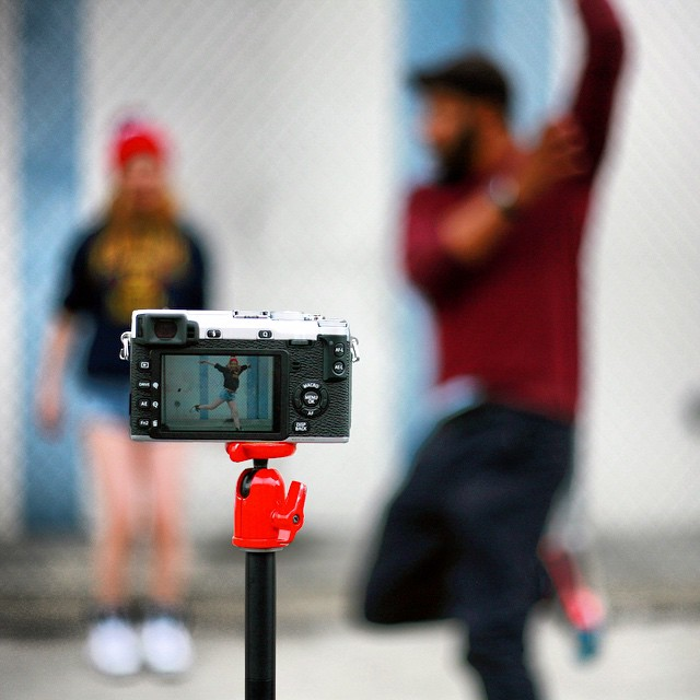Red is for passion.  Love dance and photography.  Art music and design.    When they weren't looking, I was seeing red. #dtla #photoshoot #collab #dancers #photographers #fun #professions #laughs #color #flow #movement #dancinginthestreet #focus #depthoffield #red #fuji #canon #nofilter #latergram #012015