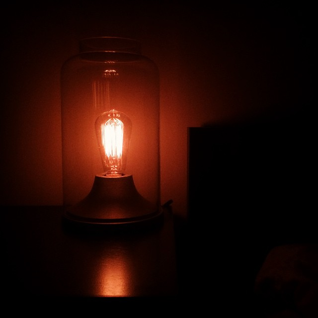 I have an idea. #lovelight   #lightbulb #lowlight #carravagio