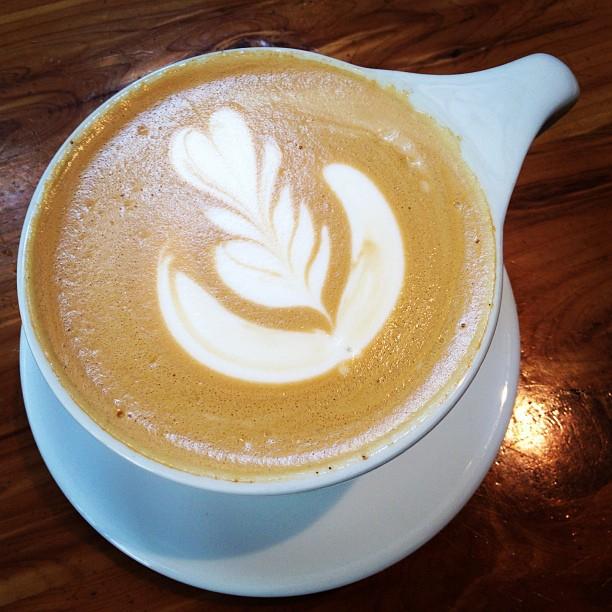 Sunday decaf latte. (Taken with  Instagram  at Intelligentsia Coffee & Tea)