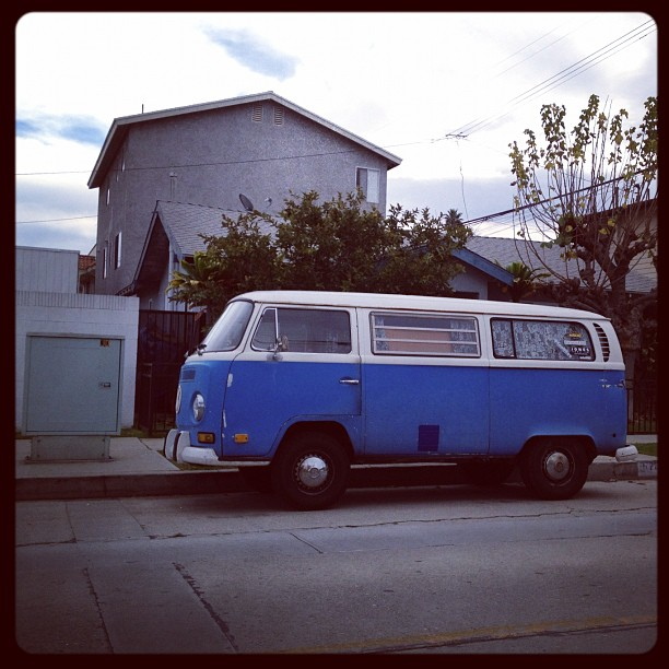 Blue van. (Taken with  Instagram  at Long Beach)
