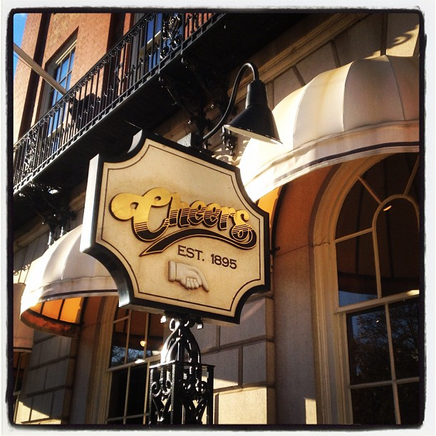 Where everybody knows your name. (Taken with  Instagram  at Cheers - Beacon Hill)