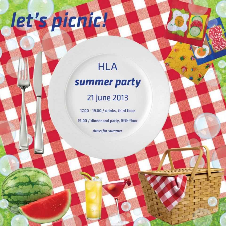 Let's Picnic / HLA Summer Party invite