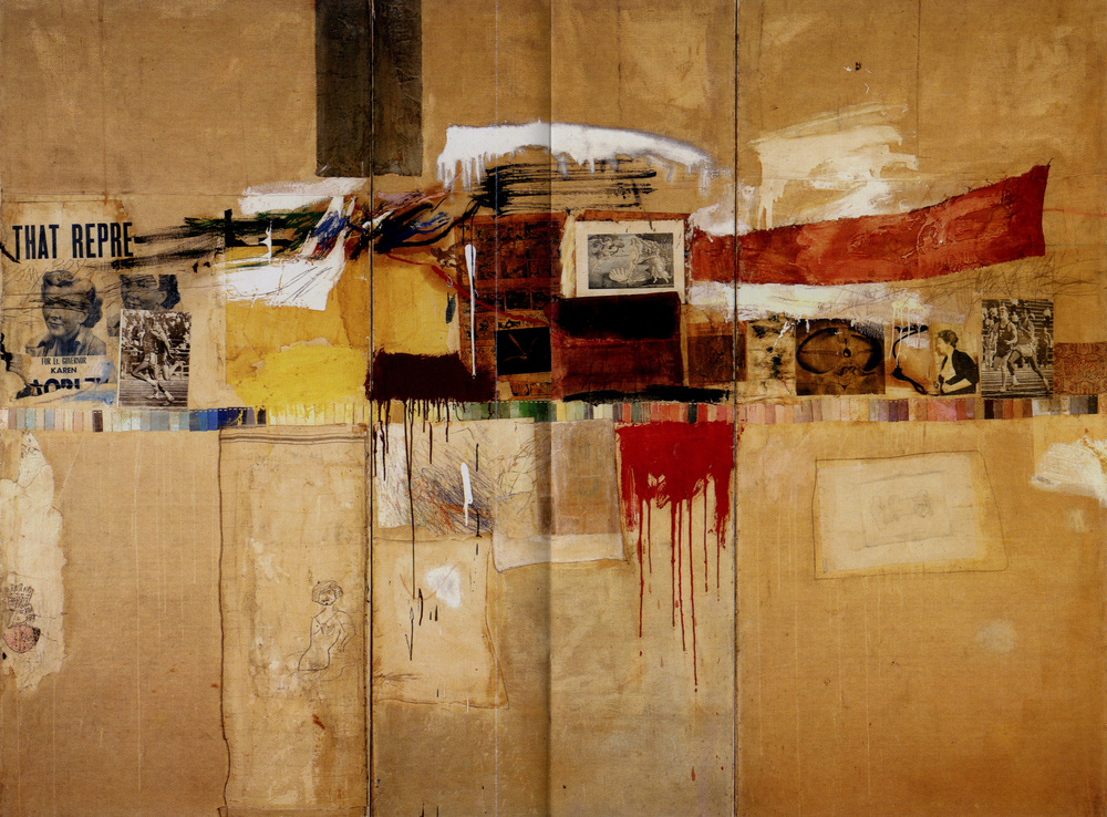"""Painting relates to both art and life, neither can be made, i try to act in the gap between the two"" - Robert Rauschenberg"