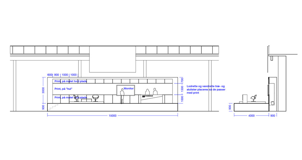 Main Stage Elevation & Section / Drawing by Martin Saelan of SAELAN