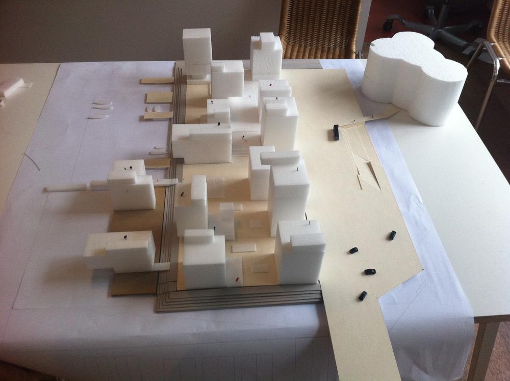Massing Model / Harbour Island, Vejle, Denmark  / Lungaard & Tranberg Arkitekter