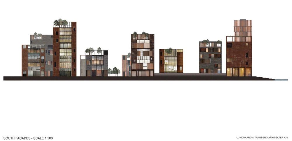 South Facades / Harbour Island, Vejle, Denmark  / Lungaard & Tranberg Arkitekter