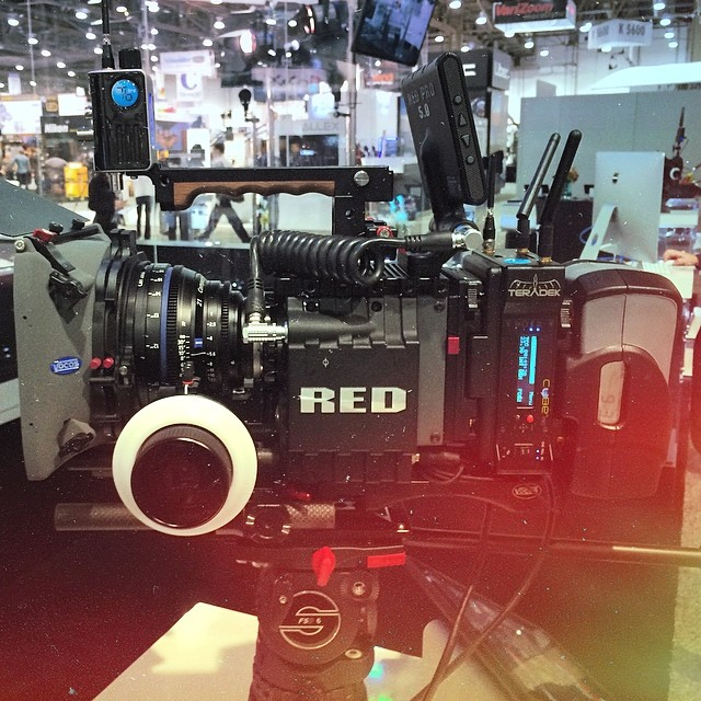 Love @Teradek 's new BOLT additions. They are also wearing our EVF cable. :-) Check it out at #teradek 's booth in the central hall. #nabshow #nab2014