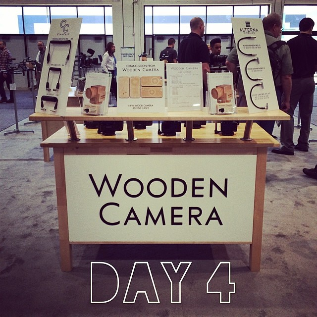 Last day of NAB 2014! Come visit before it's over. #woodencamera #r3d #nabshow #nab2014 #cinecoil