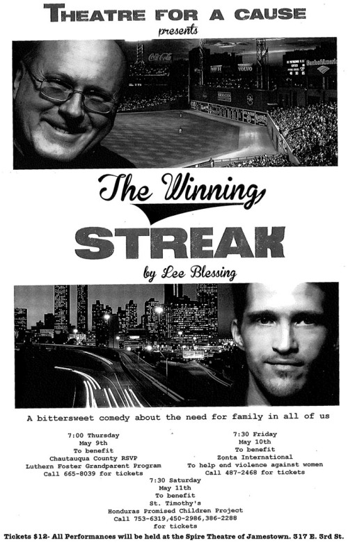 Theater Production of Winning Streak in Jamestown, New York