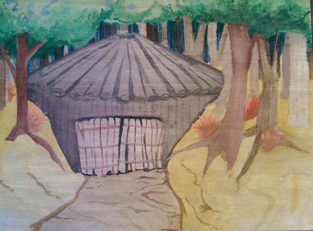Shument Cheug, Miwok Roundhouse in Kule Loklo, 2014.