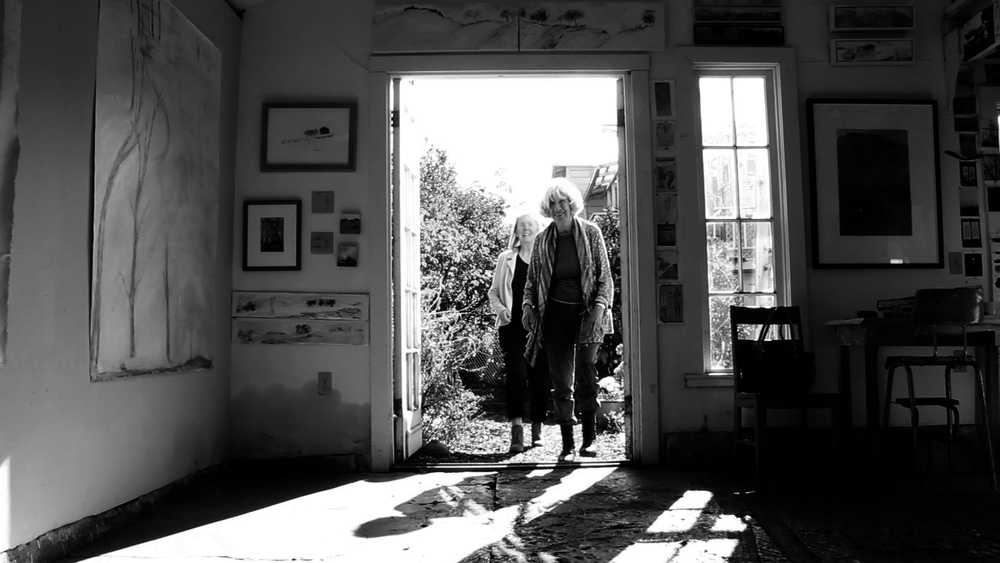 Theres Rohan visited Sylvia Sussman's Berkeley studio in the first edition of MERIDIAN STUDIO VISITS. Film still by Peter Foley.