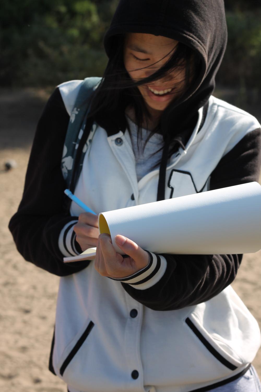 Meridian Intern Jenny Xie on a field trip to the Presidio, July 2014.