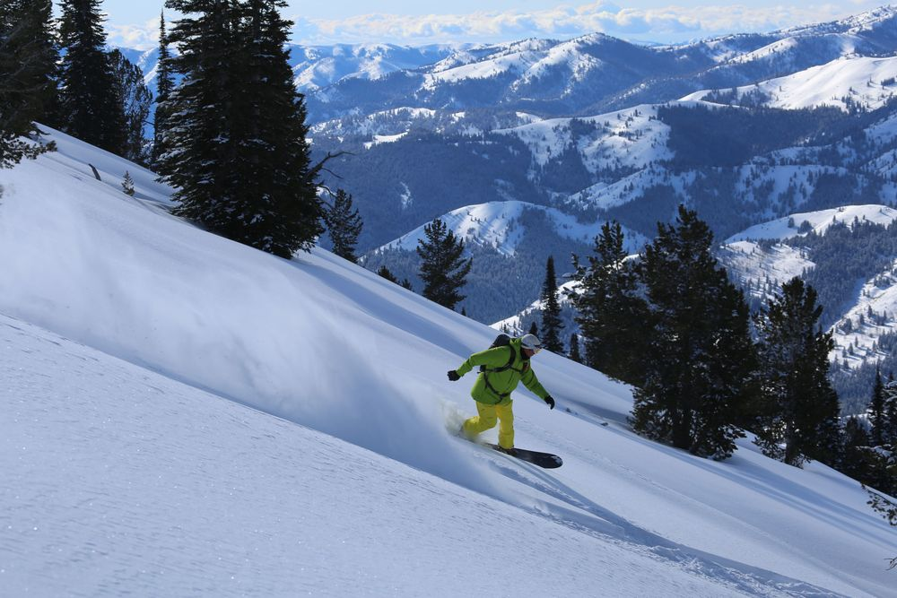 SVHS client Jay Fries ripping Idaho Backcountry
