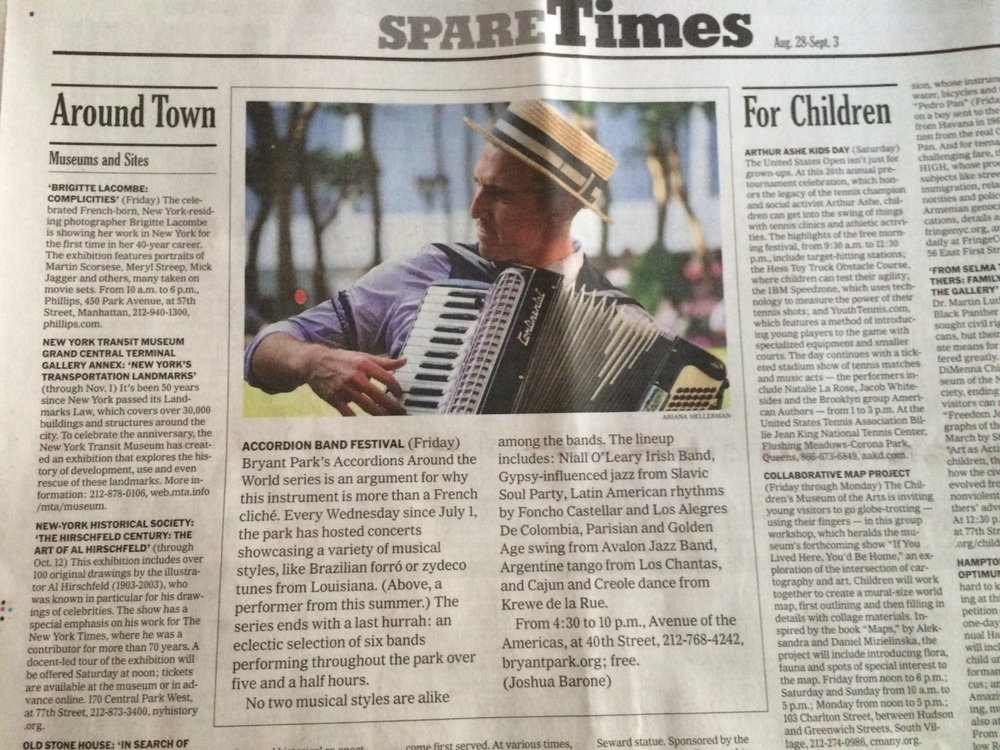 Accordions Around the World, NYTimes