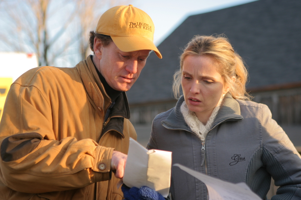 Julie Delpy and John Stimpson on set of Lucy Keyes