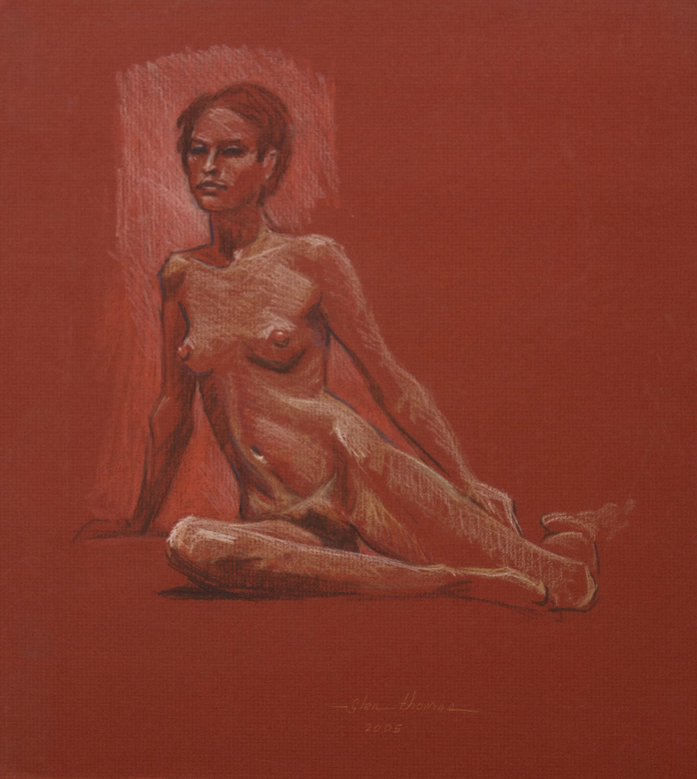 Seated Figure on Red