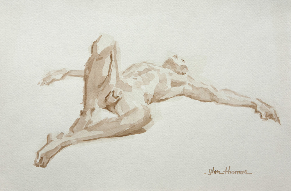 Reclining Male Figure, end view