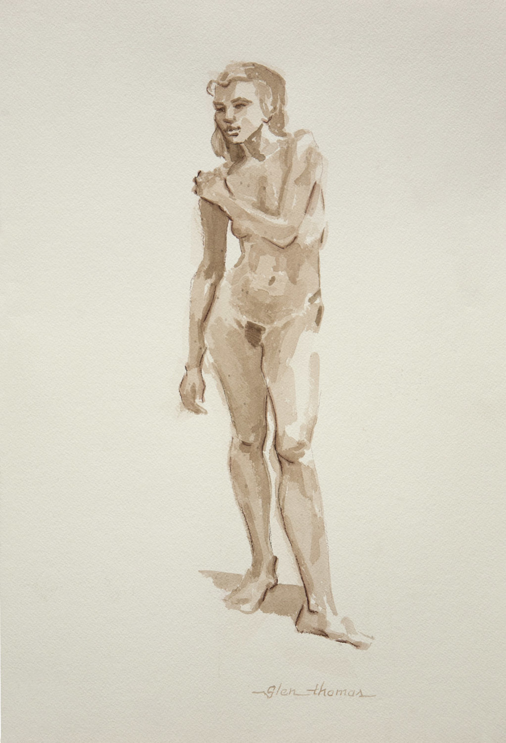 Standing Figure, left arm across torso
