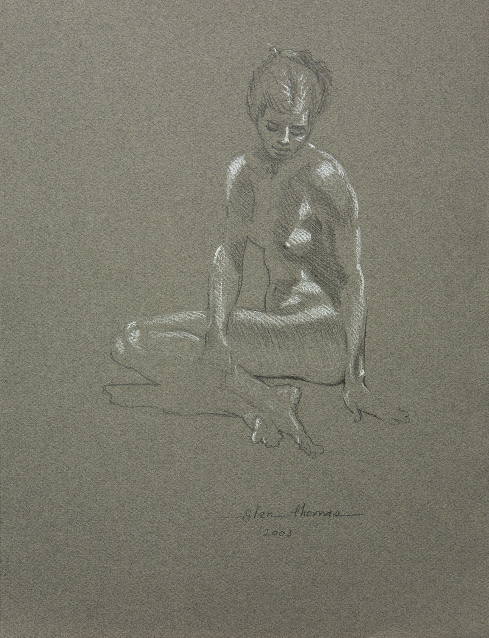 Seated Figure, right hand across knee