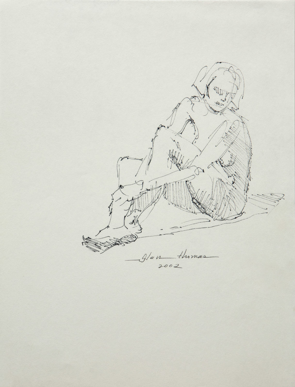 Gestural Seated Figure