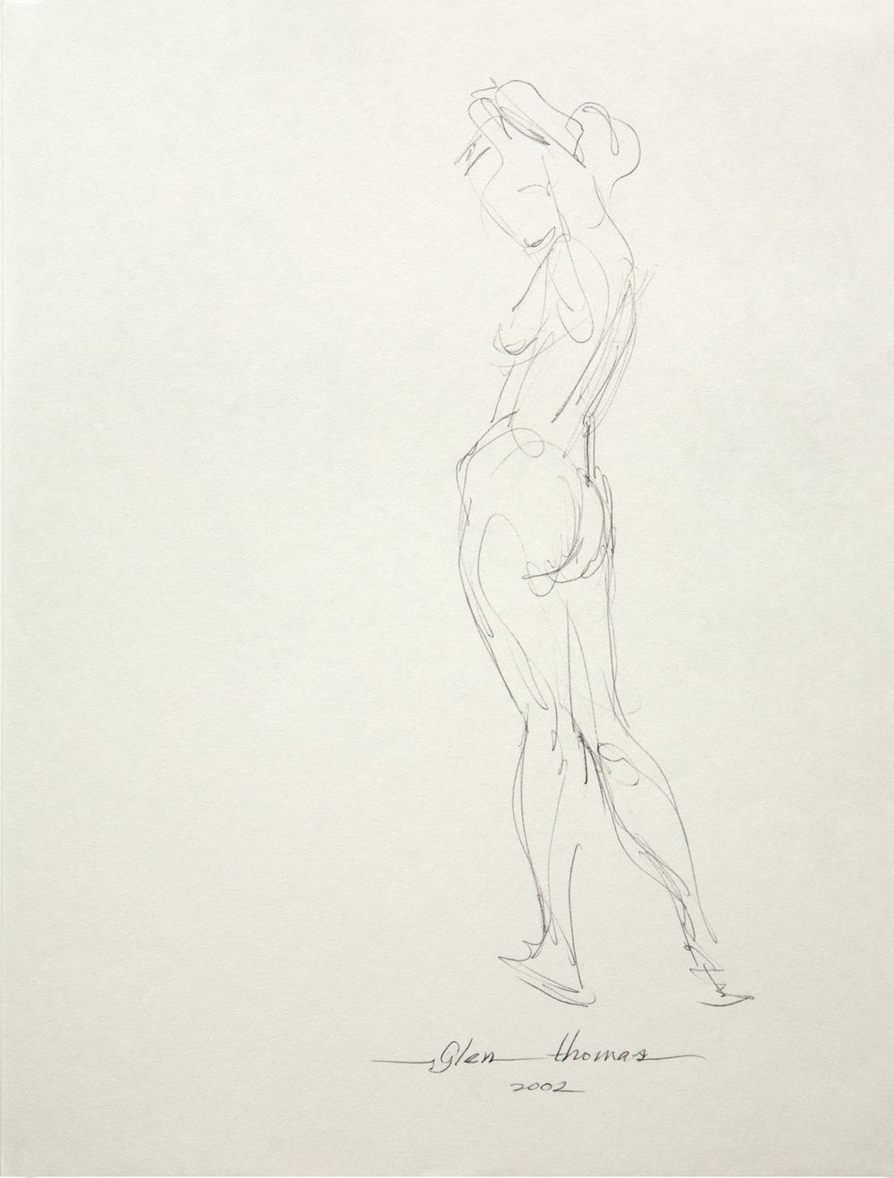 Gestural Drawing, standing figure
