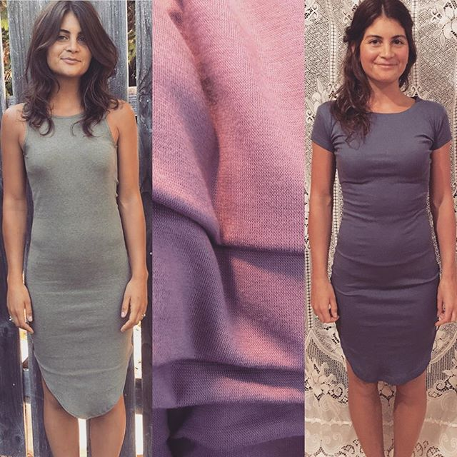 40% off The Heart Dress (on left) and the Veronica Dress (on right) in either Moss or Lilac until this Wednesday July 11th.  DM to order  XS•S•M•L•XL Model wears XS . #qubeclothing #handmadeclothing #dresses #dress #shopping #onlineshopping #lowback #bamboo #cotton #ribbedforherpleasure #sale #sales #ethicalfashion #sustainablefashion #saltspringisland #ssi #madetoorder #summer