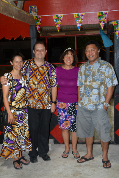 L to R: Wellness Center Directors Kristin and Tanner Smith, Canvasback Executive Vice President Jacque Spence, and Minister of Health Kalani Kaneko.
