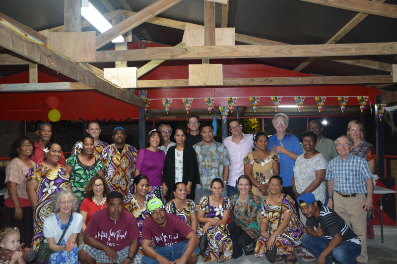 Margie, front row left, with the Wellness Center staff, ENT mission team, and Minister of Health.