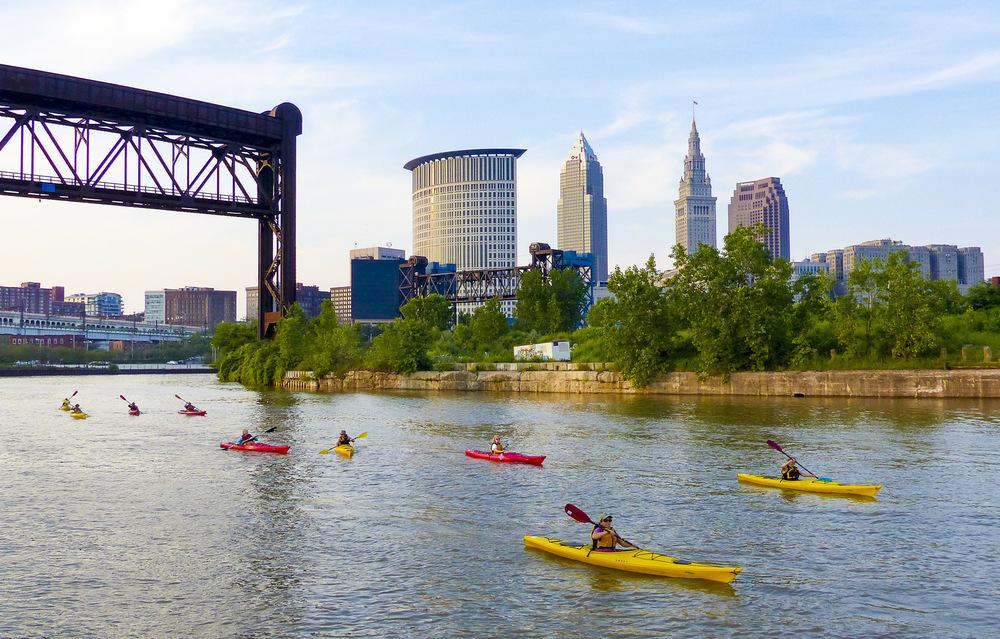 A Cleveland Metroparks kayak paddle