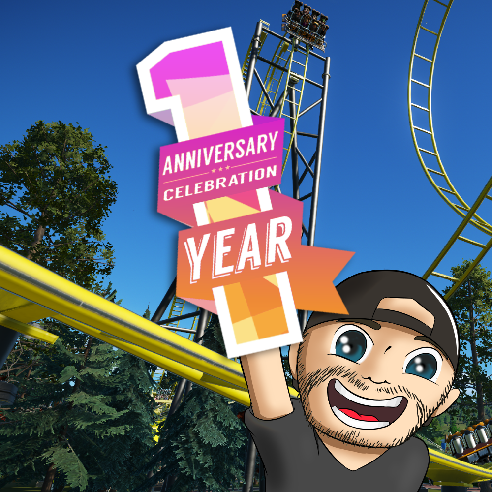1 YEAR STREAMING ANNIVERSARY CELEBRATION!  Join me all month Monday - Friday as I build an ANNIVERARY PARK!