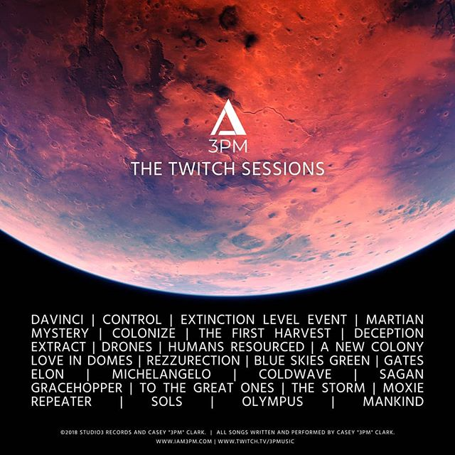 New album  28 songs. Done. Mastered.  Listening party this Friday 11/30 on @Twitch!  #Twitch #Streamer #NewAlbum #Gaymer #Composer #Electronic #Cinematic #videogames #Soundtrack #Instrumental #TheTwitchSessions #3pmusic #3pm #Music #Instagood #instamusic #instagay #mars #space #scifi