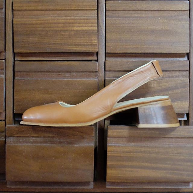 These shoes will be shown at  the event at @the_storefront this evening. These sling backs were designed with the help of @chantalbethune. We hope to see you all tonight.