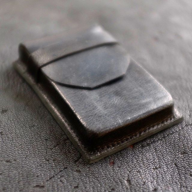 I started this project over a year ago (that's how long this stuff takes!). @mavericktannery tanned this seal leather for me!  I love it!  If you're into leather craft you should order a hide.  My friend @tarralikduffy 's son Bo helped me burnish this leather to a high shine. (Wallet available online) #seal #sealleather #sealskinleather #madeincanadamatters #madeincanad #notforamericans #ethicallymade