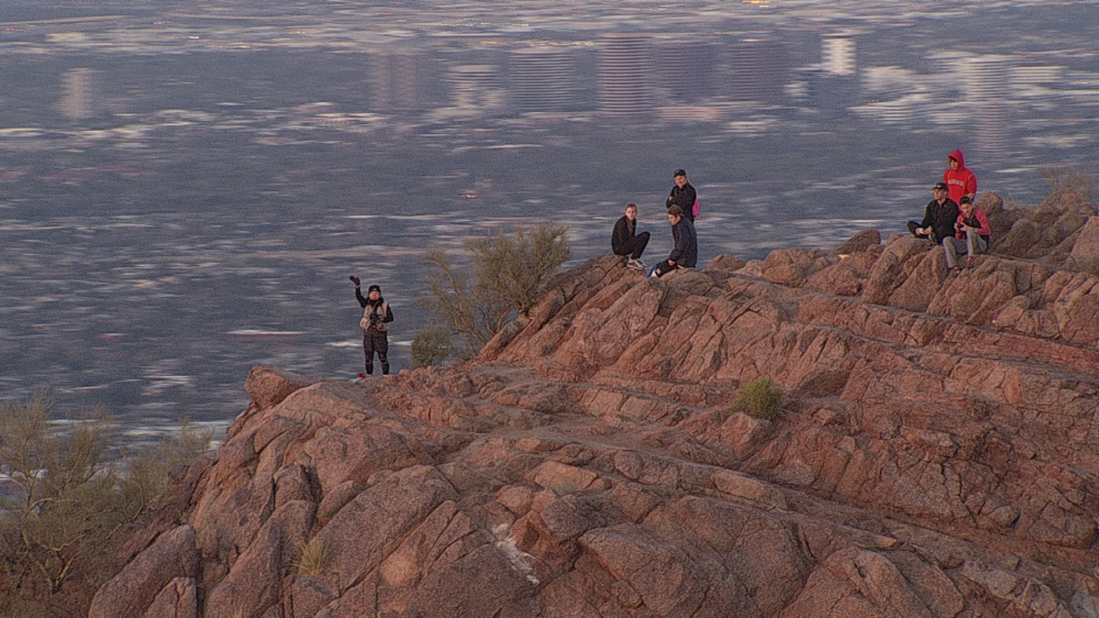Hikers on Camelback
