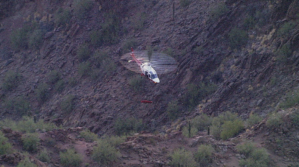 A mountain rescue on Camelback