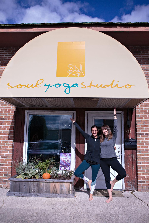 Devoted Soul Yoga instructors, Heather Griswold and Lauren Gilmore.