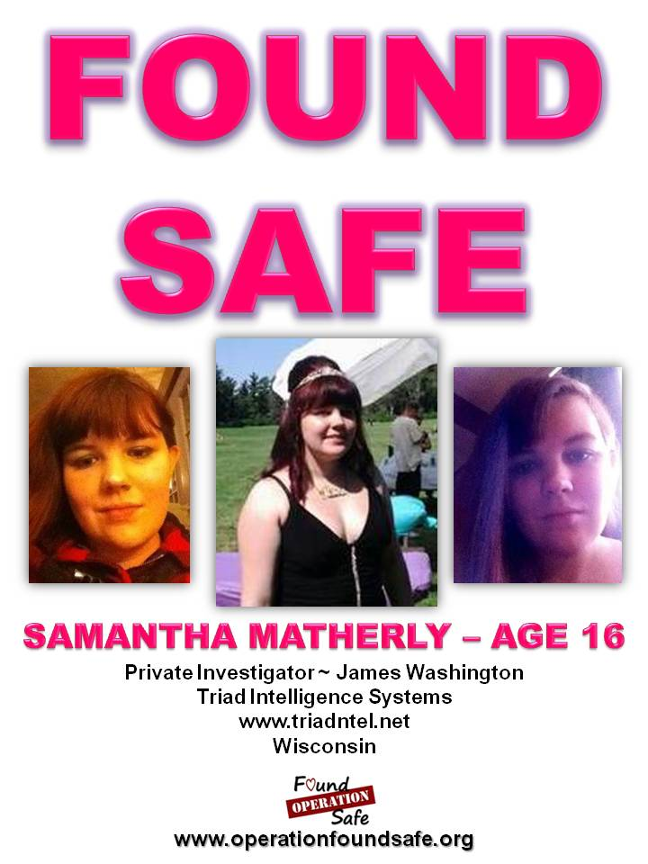 Samantha Matherly - age 16 - FOUND SAFE - missing from Milwaukee, WI since 03-03-14.jpg