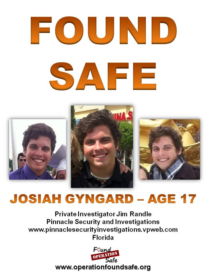 Josiah Gyngard - age 17 - missing from Zephyrhills, FL since 02-21-14 - FOUND SAFE.jpg