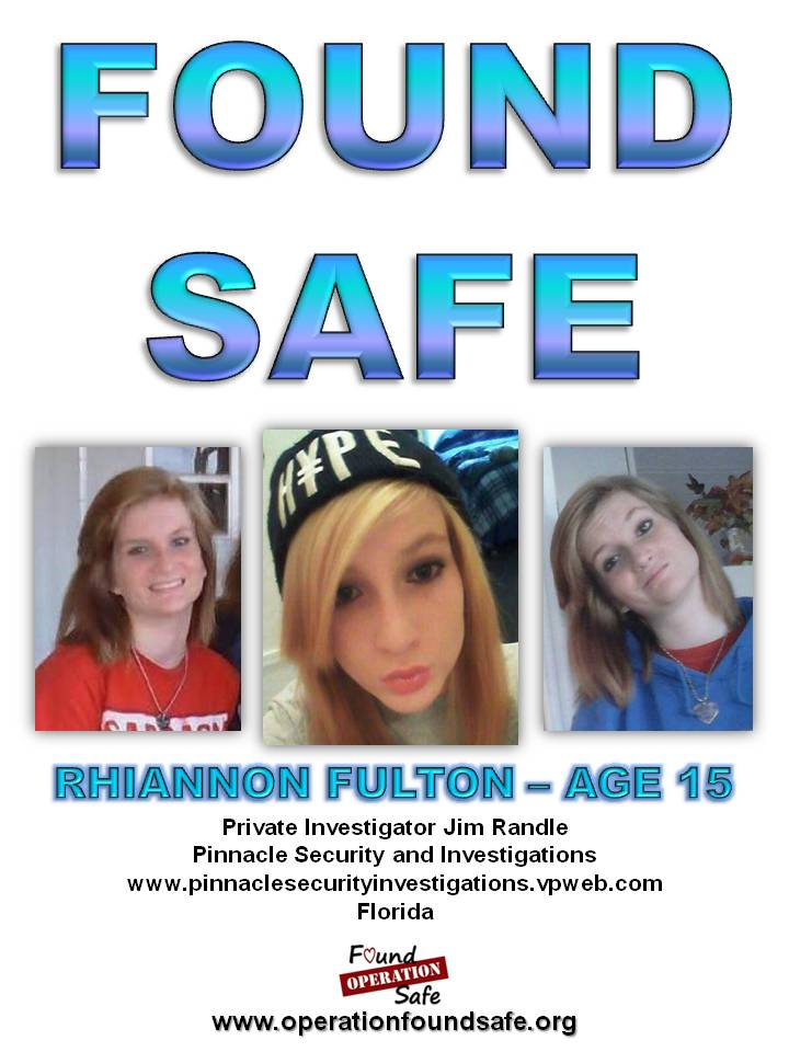 Rhiannon Fulton - age 15 - FOUND SAFE - missing since 07-09-14 from Brooksville, FL - PI Jim Randle.jpg