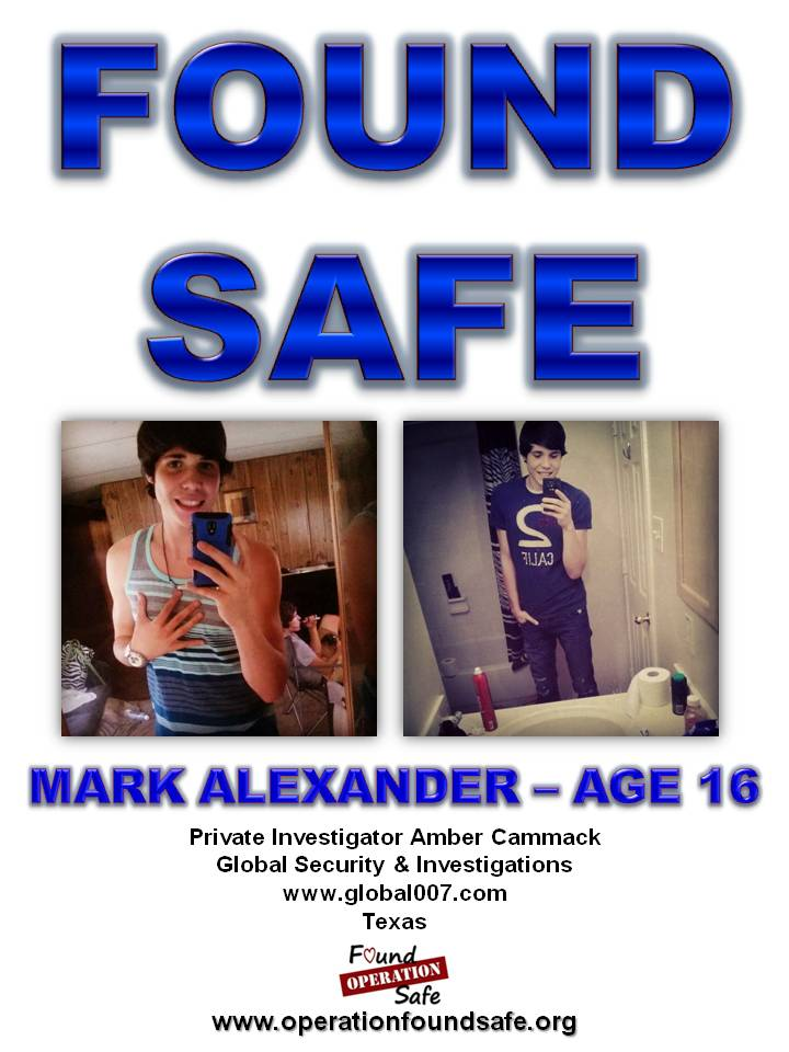 Mark Alexander - age 16 - FOUND SAFE - missing since 07-25-14 from Elkhart, TX.jpg