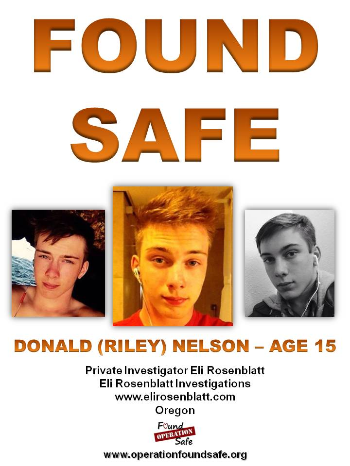Donald (Riley) Nelson - FOUND SAFE - age 15 - missing 05-12-15 from Salem, OR.jpg