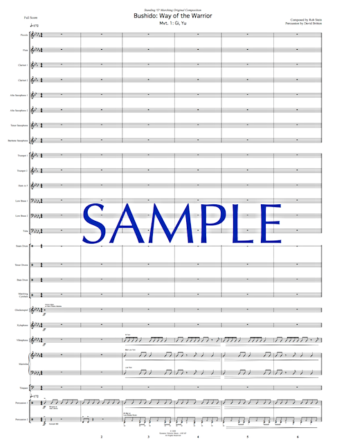 Click to request sample score for this show.