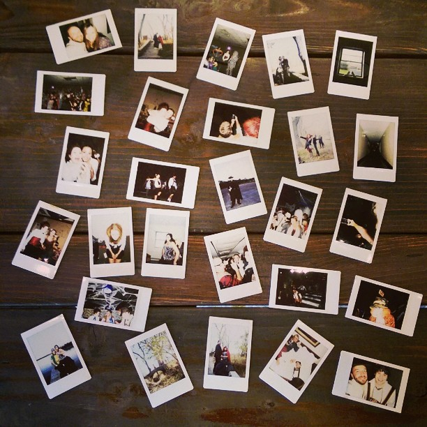 50+ polaroids taken on saturday, these are the ones accounted for. godspeed mini polaroids . . . godspeed #jrjwedgram