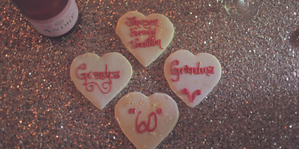 wedding anniversary cookies