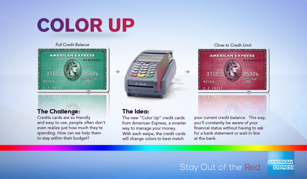 A credit card that changes color when you spend money