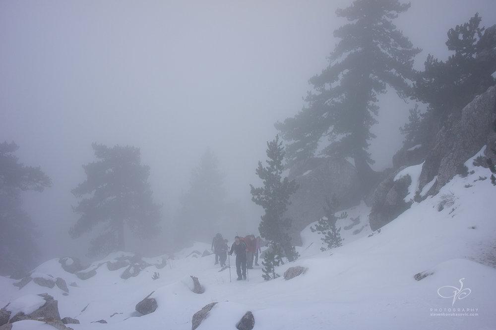Magla na padinama Vučjeg zuba